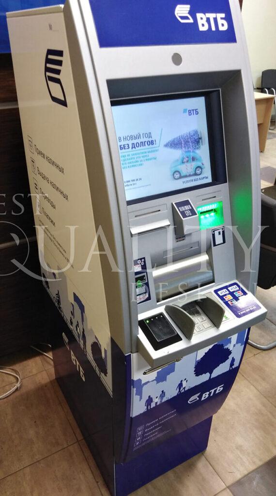 Бест Кволити Дизайн выиграла тендер на ребрендинг сети банкоматов ВТБ
