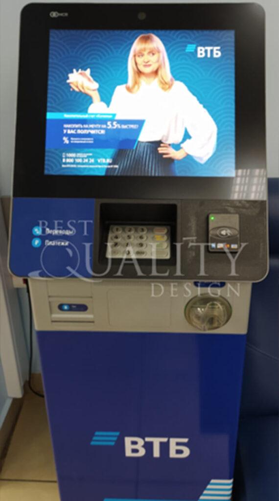 Очередная победа в тендере банка ВТБ на оклейку банкоматов