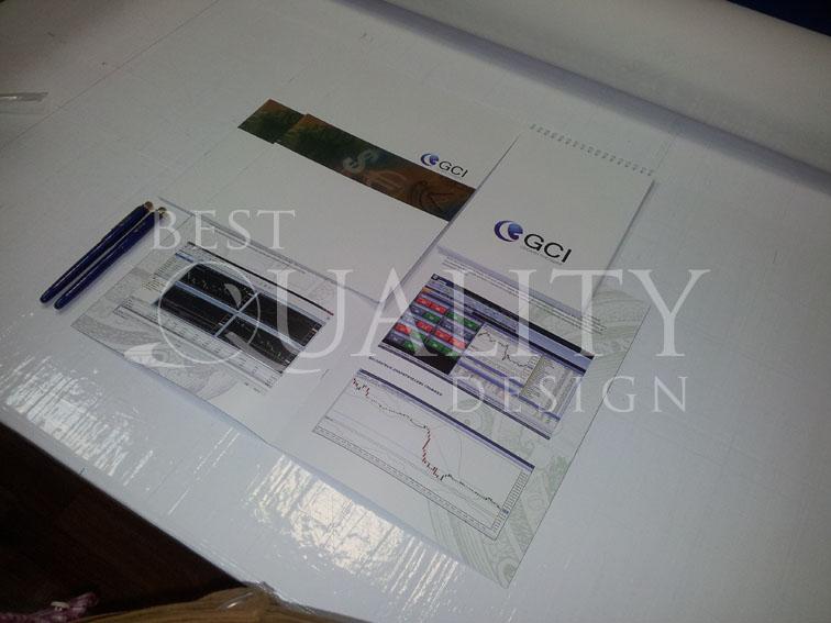 Изготовление полиграфии для компании GCI