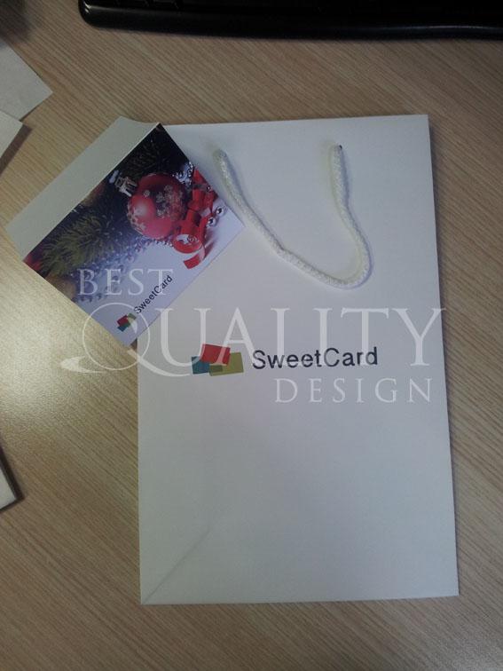 Изготовление полиграфии для компании SweetCard