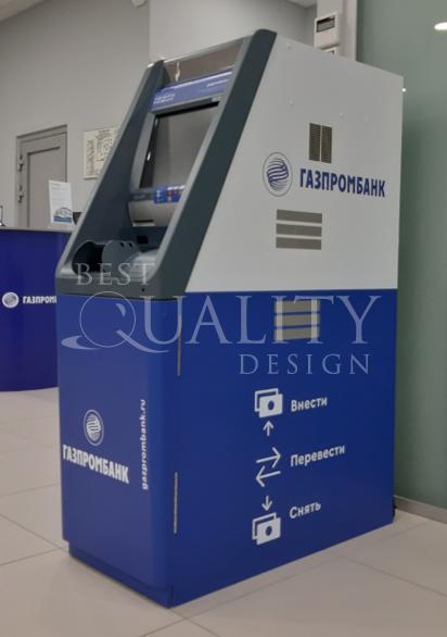 Брендирование банкоматов Газпромбанка